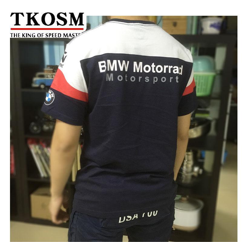 TKOSM 2017 Motorrad T-shirt BMW Moto GP T-shirt Motocross Langlauf T-shirt Wicking Schweiß Racing Motorrad Shirt