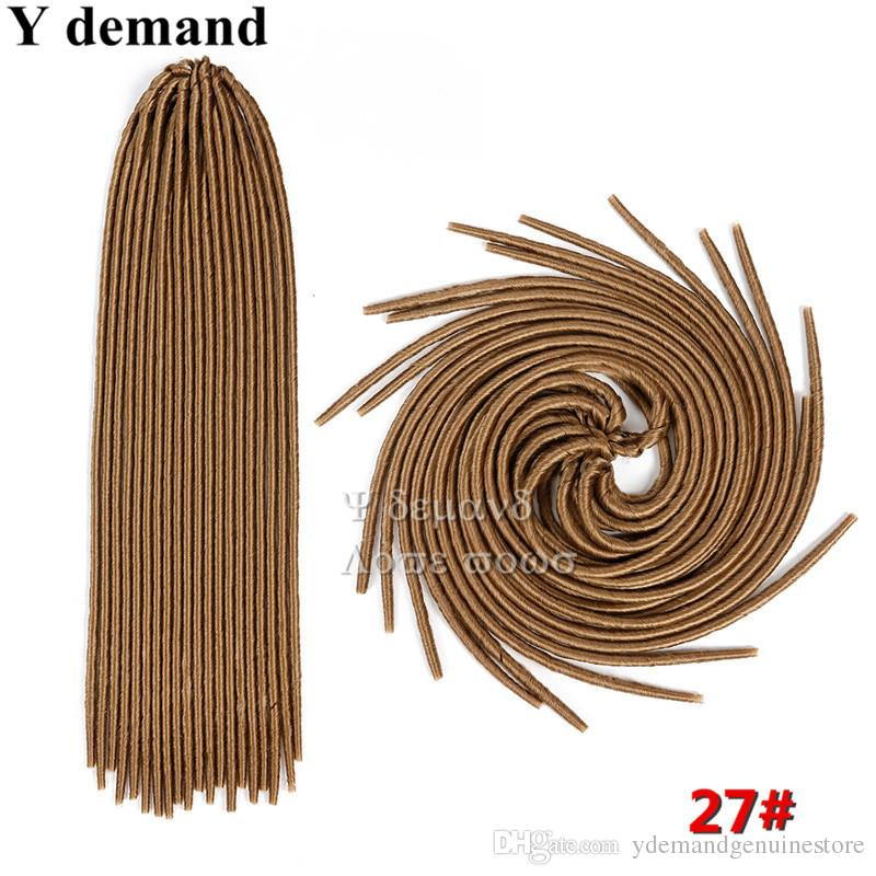 "Soft Dreadlocs 20"" 100g Faux Locs Braids Hair Braiding Hair Extensions Softex Crochet Twist Hair Braids Soft Dread Locks Y demand"
