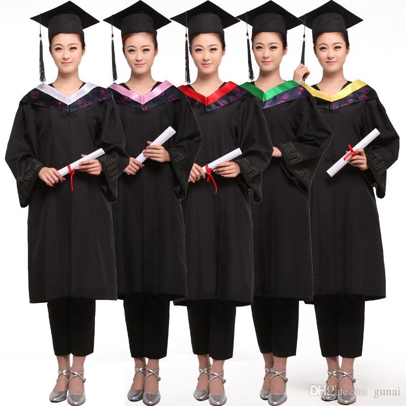 2017 Women Master\'S Degree Gown Bachelor Costume And Cap University ...