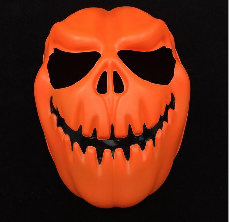 2016 New Latest New Design Cosplay Eco-friendly Latex Plastic PVC Halloween Orange Pumpkins Mask Party Masks