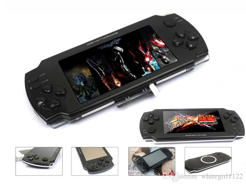 2017 latest 8GB 4.3 Inch touch screen PMP Handheld Game Player s431 MP4 MP5 Player Video FM Camera Portable Game Console