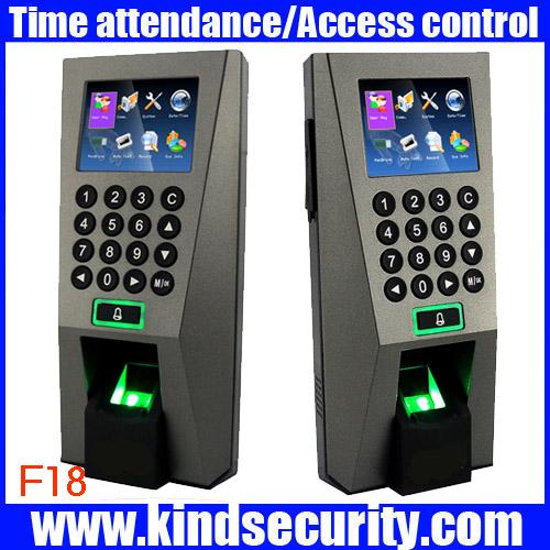 Wholesale-Biometric Building Management System ZK F18 Biometric Fingerprint Access Control and Time Attendence Security System for Door
