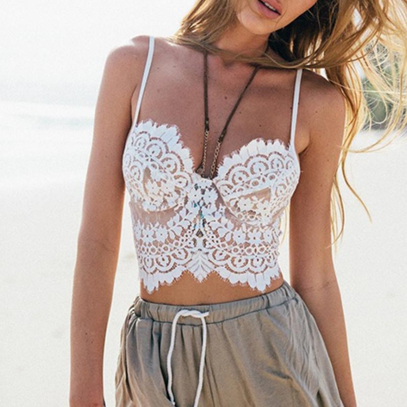 Acheter New Summer Sexy Camisoles Bralette Soutiens Gorge Femmes Brandy  Melville Court Dentelle Plage Débardeur Crop Tops Blanc   Noir De  29.69 Du  ... e2814732875