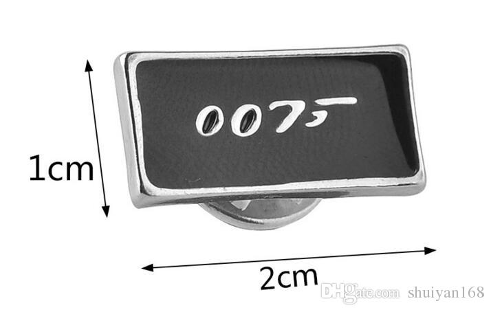 Cufflinks for Men 007 Series Cufflinks for Men Cuff Links High Quality Men's Fashion Jewelry Charm Brooch Accessories James Bond Movie DHL