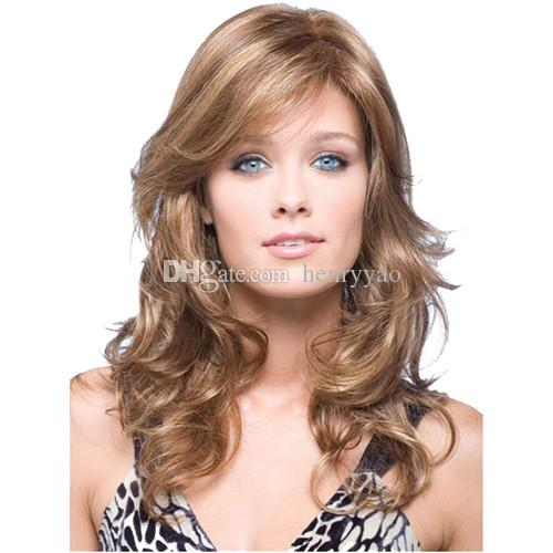 Cheap Wig Long Body Wave Hair Wigs Full Bang Wig for Black Women Europe Heat Resistant Beige Synthetic Wig