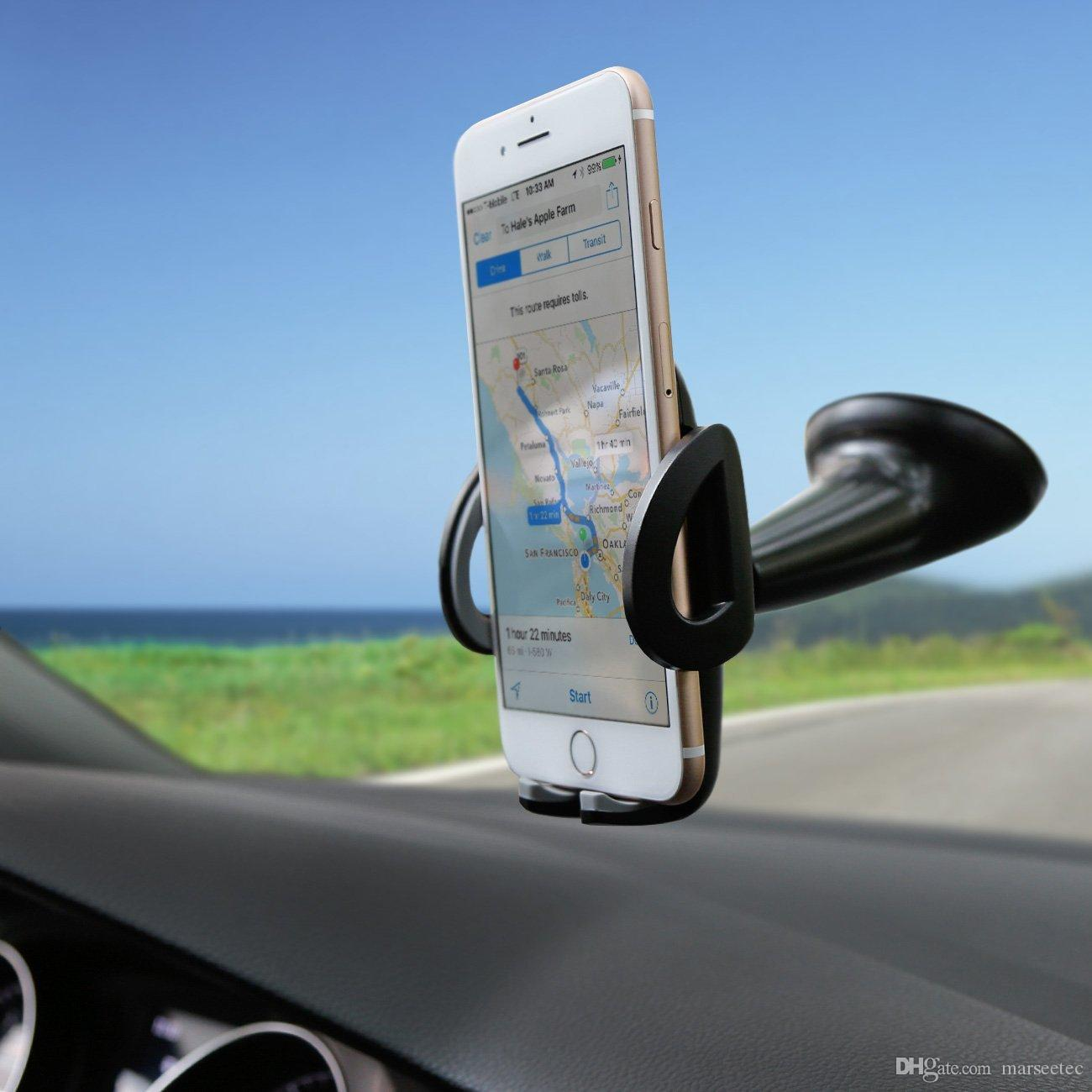 Phone car mount holder phone holder windshield cradle for iphone 7 7 plus 6 6 plus 5 samsung galaxy s5 s6 s6 edge s7 s7 edge and more best car mount holder
