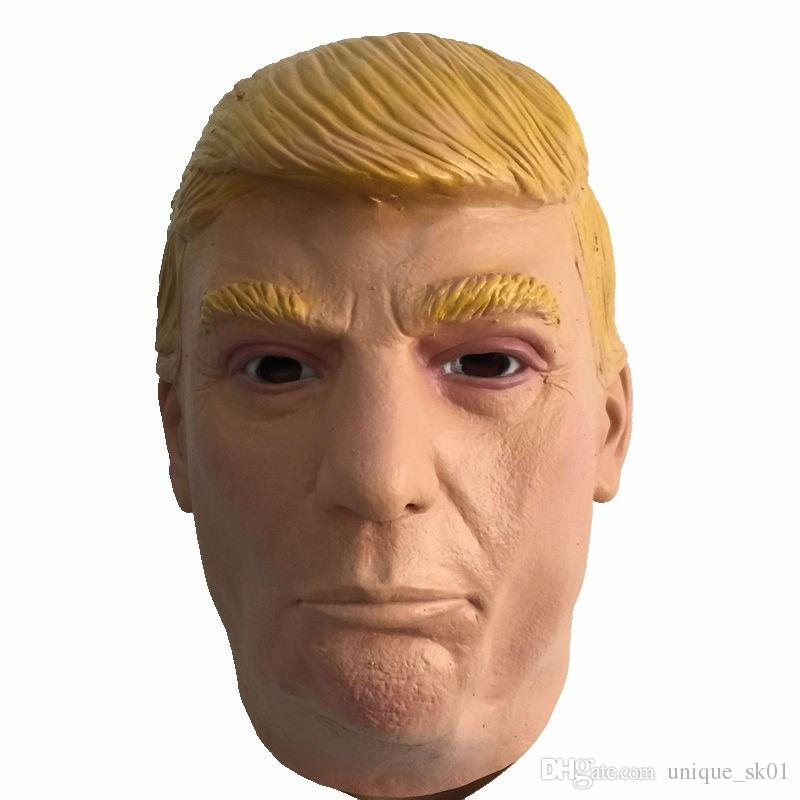 New USA President Donald Trump Overhead Mask Props Funny Latex Party Masks Carnival Celebrity Billionaire Cosplay Masquerade Costume Trump