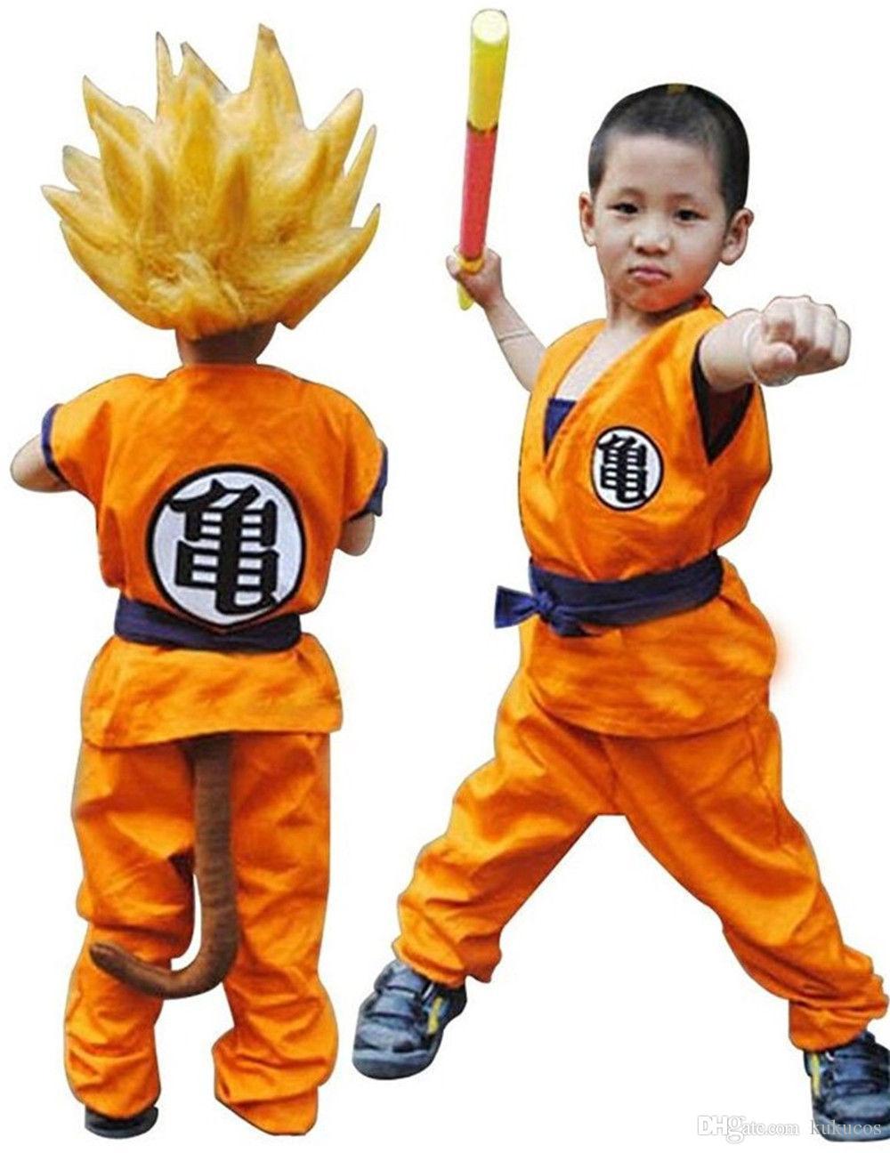 kukucos anime dragon ball z son goku saiyan lovely child cosplay