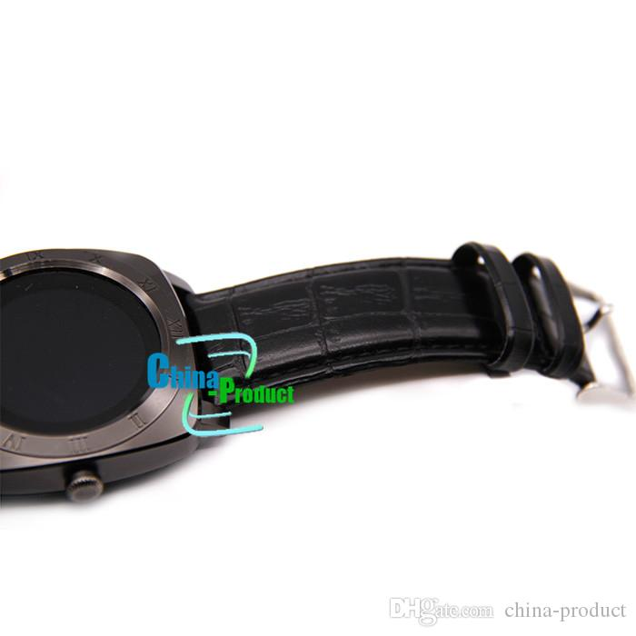 Original X3 Bluetooth Pedometer Sleep Smart Watch Leather Android Smartwatch Monitor Remote Camera Music SIM TF Card Smart Clock