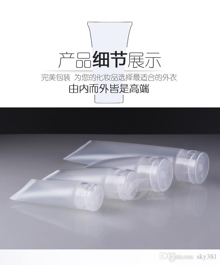 15g 30g 50g 100g manguera cosméticos empaquetado limpiador facial Squeeze Bottle plástico Cosméticos mangueras de lavado de manos crema