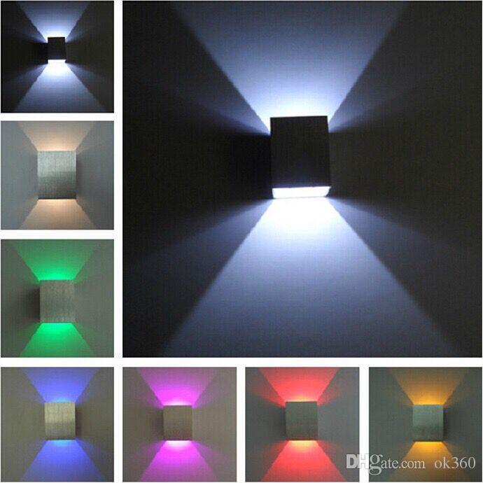 Modernes Design Wand Llight LED Wandlampe Halle Porch Korridor Lampe Licht Warm Weiß Rot Blau up-down-LED-Licht