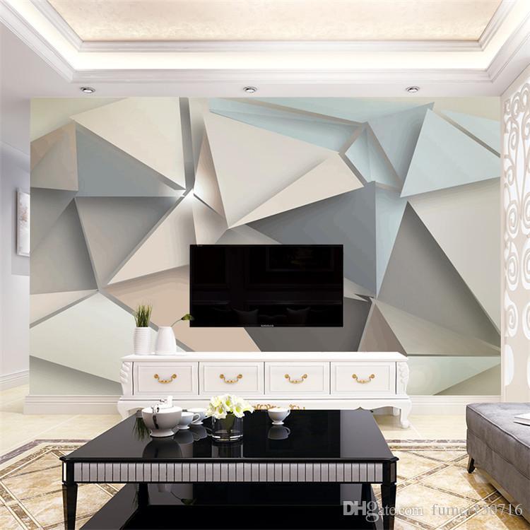 Sfondo Personalizzato Foto Wall Paper 3D Modern TV Sfondo Soggiorno Camera da letto di arte astratta geometrica parete Rivestimento murale