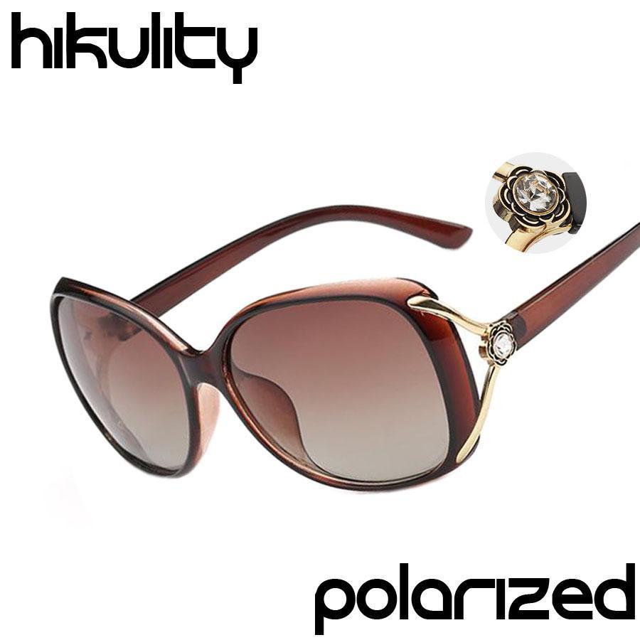 f7b51ef408 Wholesale-Brand Design with Rose Flower Rhinestone POLARIZED Lens ...