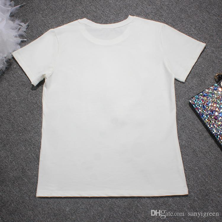 Harajuku Sequin tshirt Women 2019 Fashion Design Short Sleeve Eyelash Cotton T-shirt Female Summer Tops Plus Size S-3XL 4XL