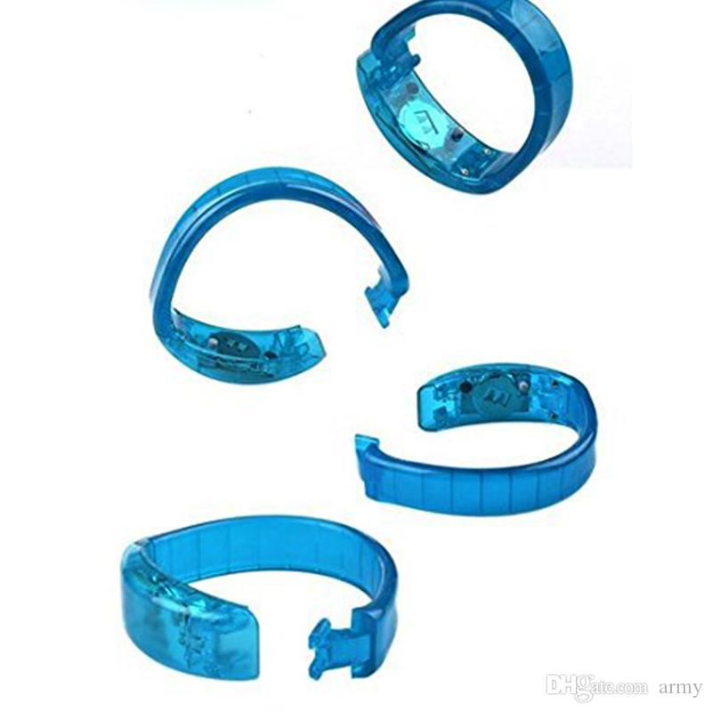 Bracelet de contrôle vocal LED Glo-sticks Bracelet de clignotant électronique LED Bracelets luminescents Bracelet LED