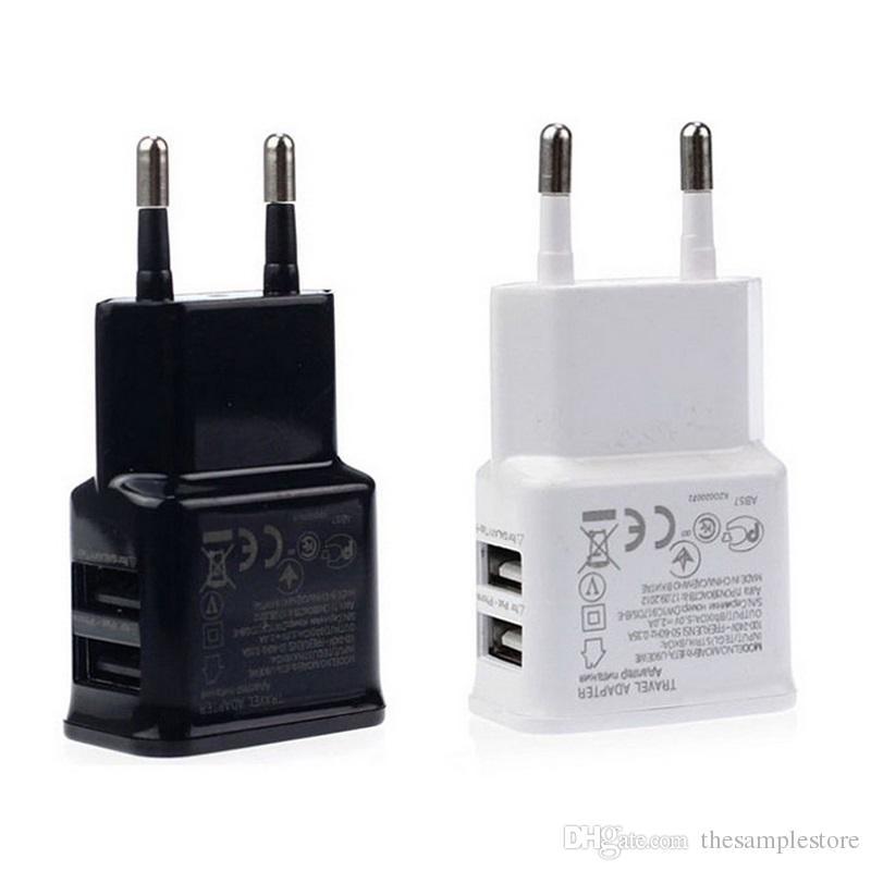 5 V 2A UE Dual 2 Porta USB Plugue Casa Carregador De Parede Para o telefone móvel Mini AC Power Adapter para telefone celular, telefone inteligente
