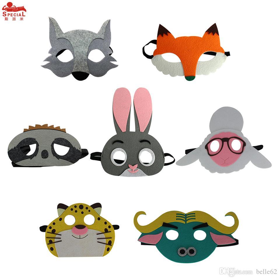 2019 Free Dhl Child 7 Animal Masks Christmas Girl Gifts
