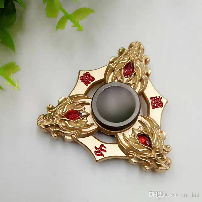 Hot King Glory Metal Finger Gyro Portable Triangle Shape Hand Spinner Mini Fingertip Gyroscope Decompression Toys