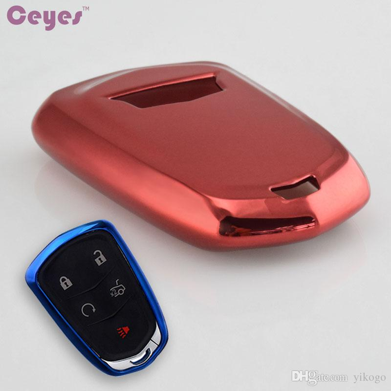 Car Key Cover Tpu For Cadillac CTS XTS ATS ATS-L XLS SRX car Key soft Protective case shell Bag Car Styling