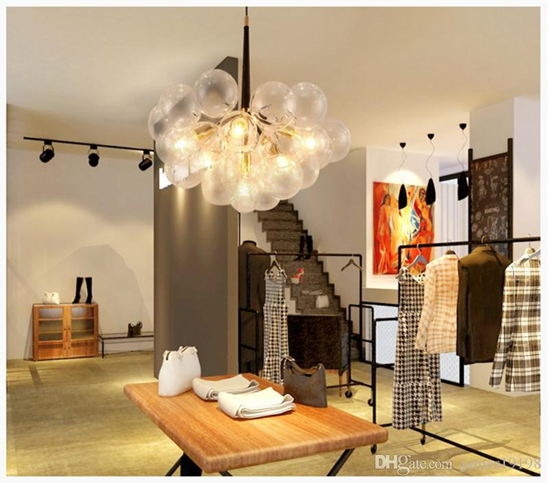 Modern Black Creative Glass Bubble Pendant Lamp Chandelier Fixture Ceiling Light