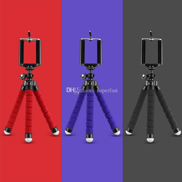 Pulpo flexible trípode soporte para teléfono Soporte universal para teléfono celular cámara del coche Selfie Monopod con Bluetooth disparador remoto