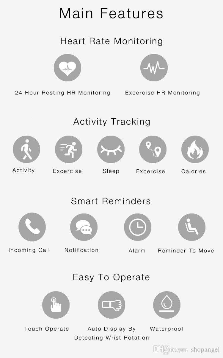 Smart Wristband Z3 Bracelet Bluetooth SOLED Screen Touch Key Fitness Tracker Health Sleep Monitor Smart Watch Sports Bracelet Heart Rate