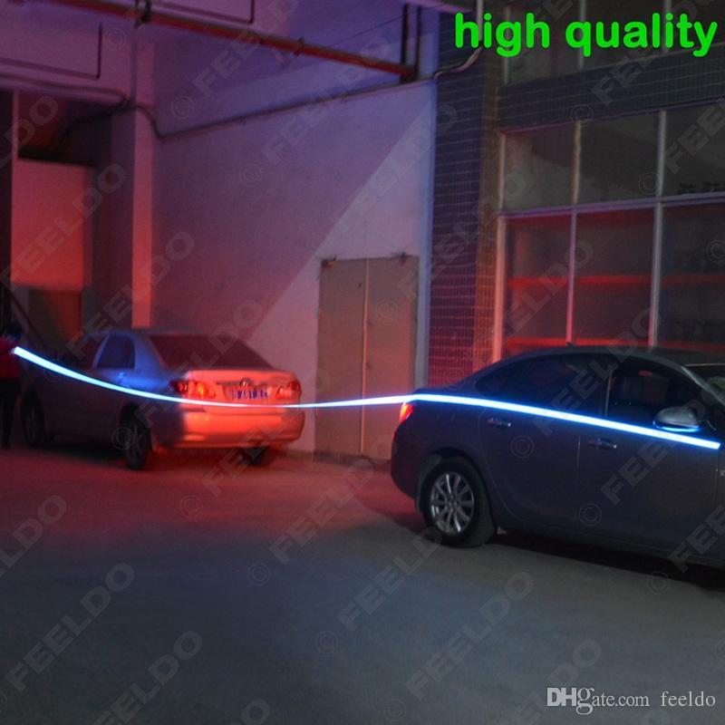 FEELDO 10 색 100CM * 14MM 1m Electroluminescent 테이프 EL 와이어 콜드 라이트 스트립 자동차 주변 조명 DC 12V # 4468