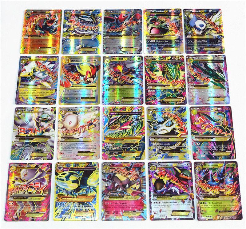 Pikachu Gx Trading 70 English Card 60 Mega Ex For Tcg Cards Kids Toy