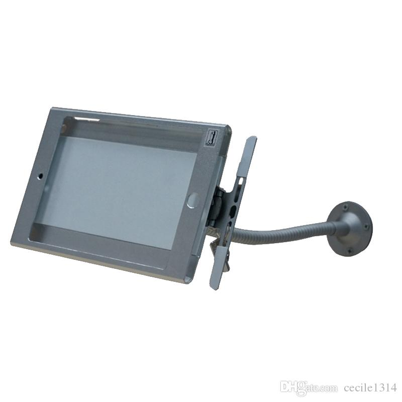 Nova montagem na parede flexível de mesa de montagem tablet segurança anti-roubo stand display case holder suporte de bloqueio para ipad mini 1/2/3/4