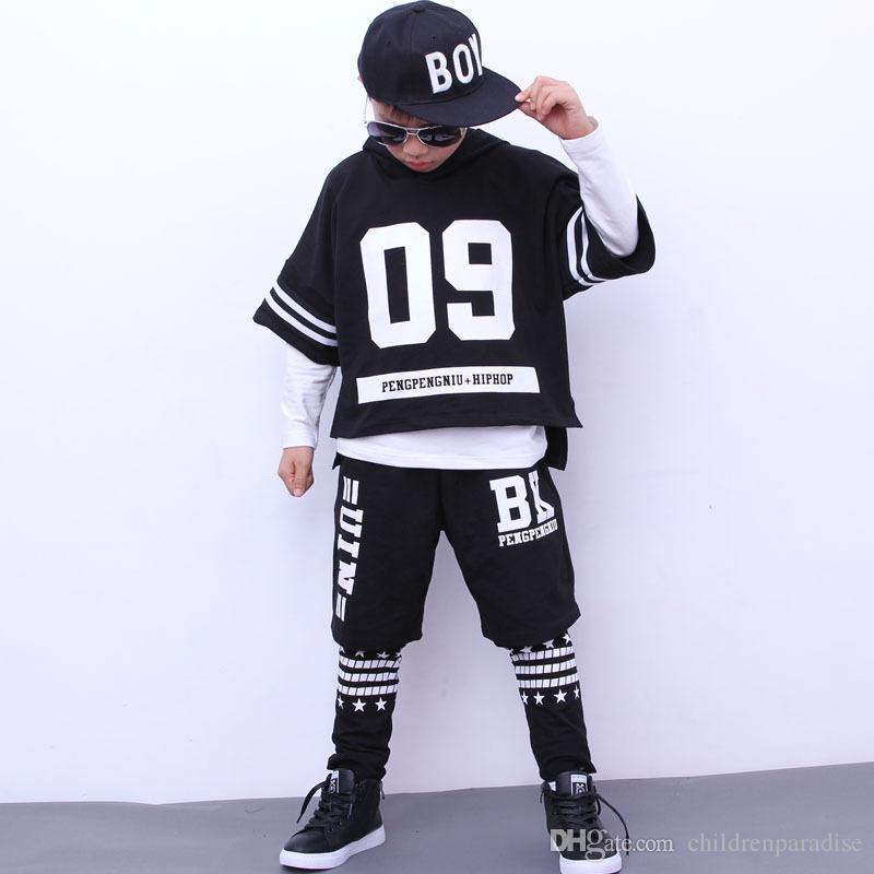 Compre Chicos Deporte Traje Otoño Niñas Ropa Conjunto Carta Adolescente  Chico Danza Desgaste Niños Chándal Casual Hip Hop 4 Unids Niño Conjunto Boy  Outfit ... d3f9de64230
