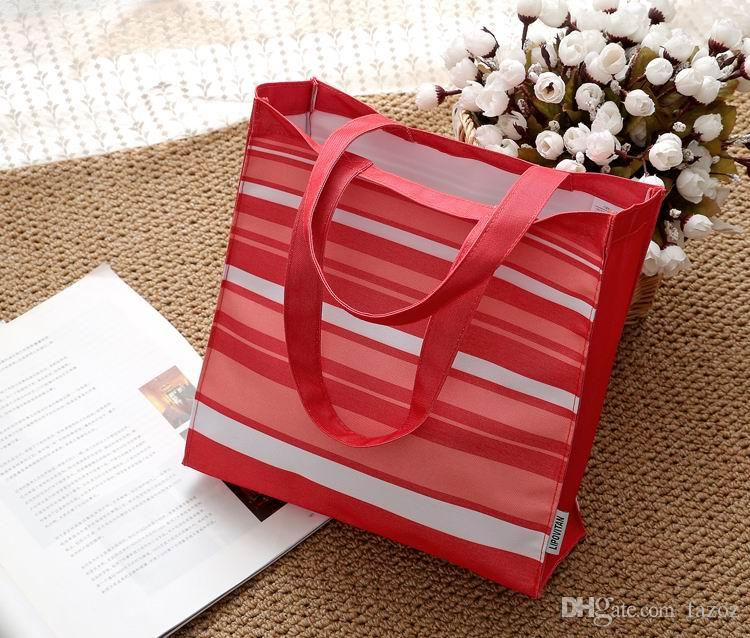 여성 패션 캐주얼 옥스포드 작은 물건 저장 가방 학생 학교 점심 핸드백 가방 쇼핑 다채로운 줄무늬 아이 어린이 미니 토트 백