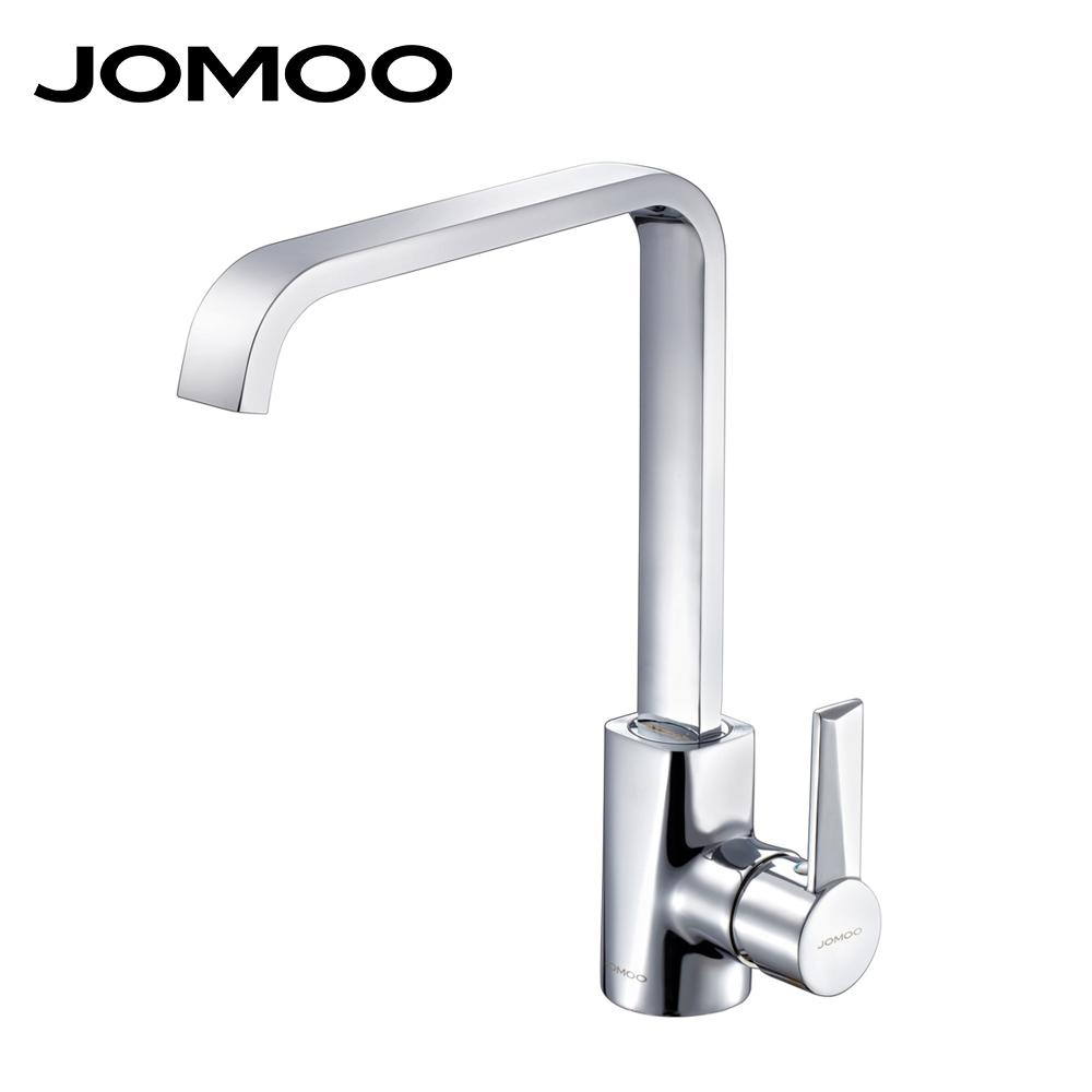 product square shape faucet torneira sakuna hot single from kitchen hole jomoo mixer and cozinha solid polish wholesale brass handle cold chrome
