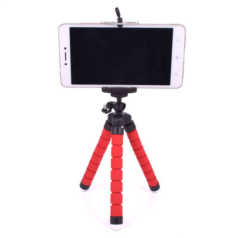 2017 Hot Flexible Tripod Holder For Cell Phone Car Camera Gopro Universal Mini Octopus Sponge Stand Bracket Selfie Monopod Mount With Clip