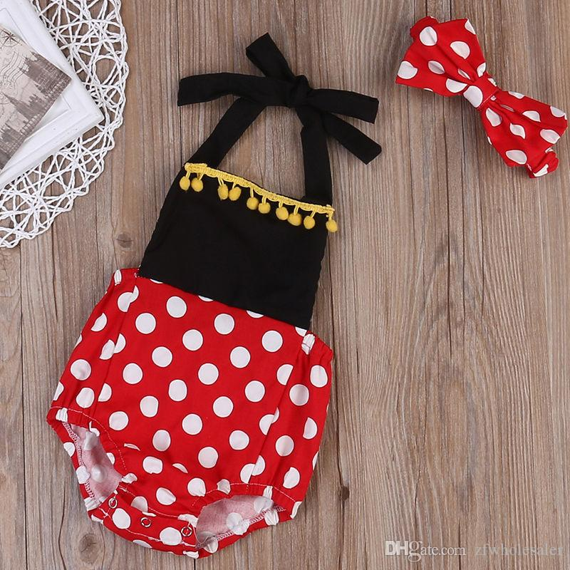 Baby Boutique Girl Clothes Todder Romper Suit Mini Mouse Baby Oneises Infant Outfit Kids Jumpsuit Playsuit Children Summer Clothing Hot Sale