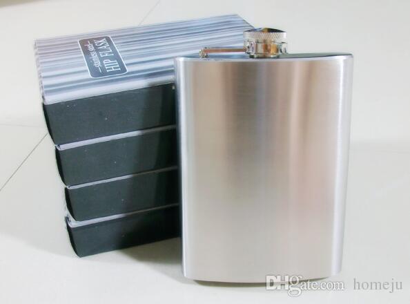 8oz Spiegel poliert Edelstahl tragbare Wein Hip Flask Bear Cap Trichter Drinkware versandkostenfrei