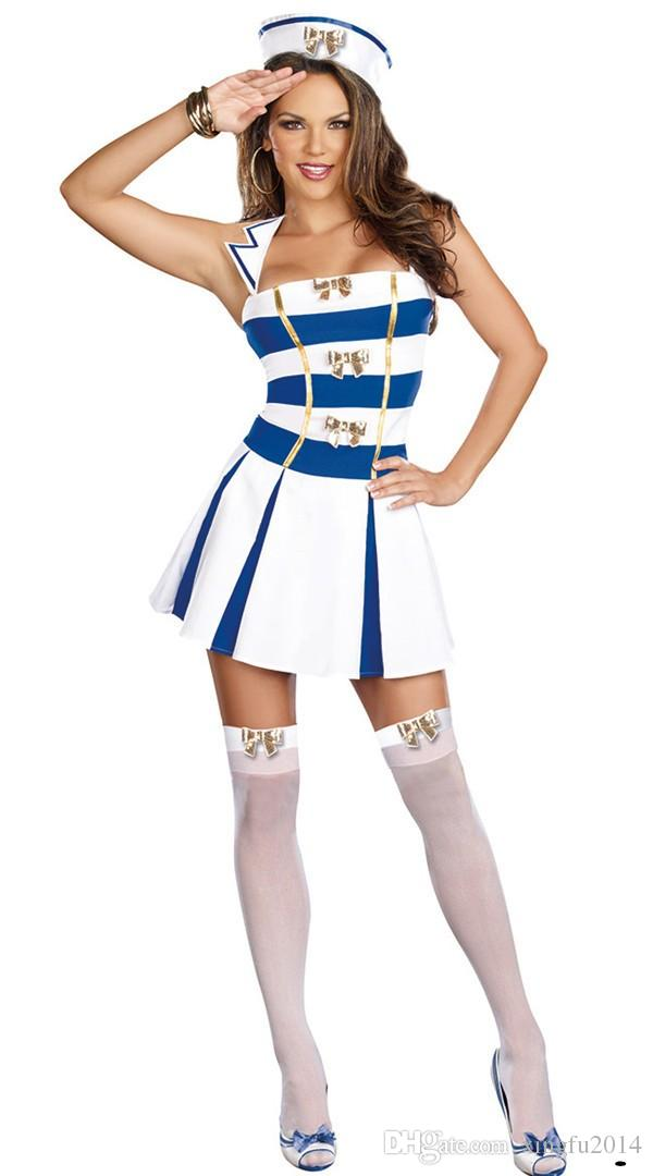 Blue u0026 White Anime Navy Uniform Women Sexy Sailor Costume Adult Fancy Dress Halloween Role Playing Game Carnival Party Costumes Halloween Costume Themes ...  sc 1 st  DHgate.com & Blue u0026 White Anime Navy Uniform Women Sexy Sailor Costume Adult ...