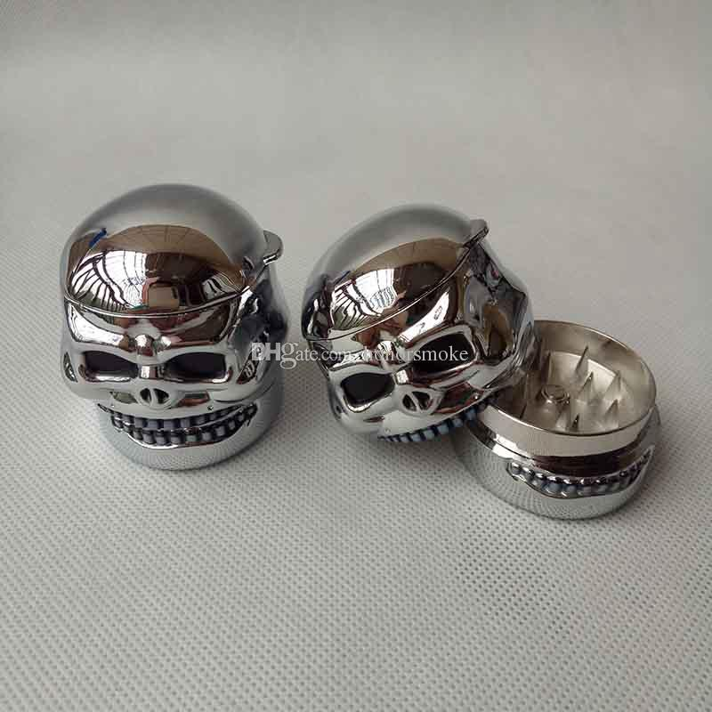 Skull ghost head style tobacco metal GRINDER herb grinder Znic Alloy Cigarette Herb Grinder 3 layers For Smoking Pipe With Display boxes