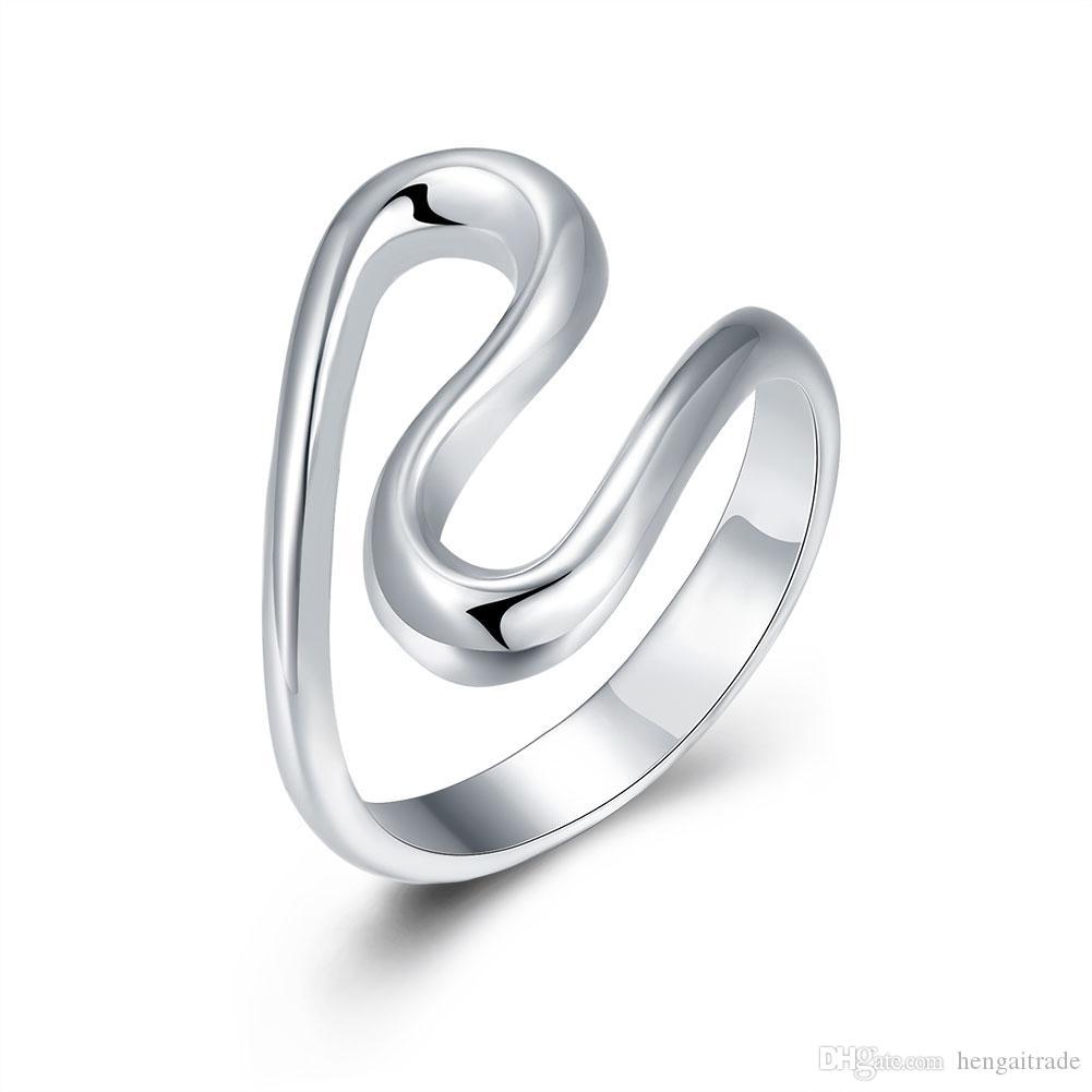 Envío gratis venta al por mayor 925 Sterling Silver Fashion S anillo -8 código joyería LKNSPCR113-8