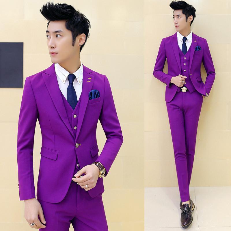 2018 Wholesale Multi Color Mens Tuxedo Suits Costume Homme Mens ...