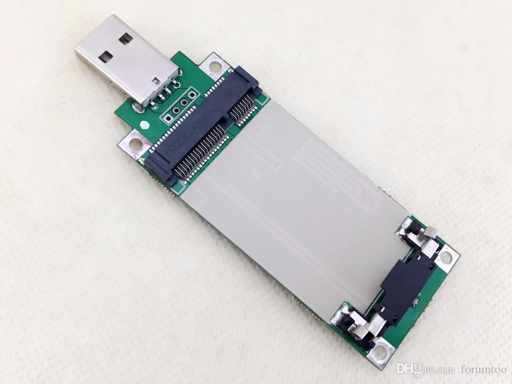 PCIE MINI USB 3G 4G modülüne Dönüştürülmüş Özel geliştirme kurulu Ile SIM / UIM kart yuvası