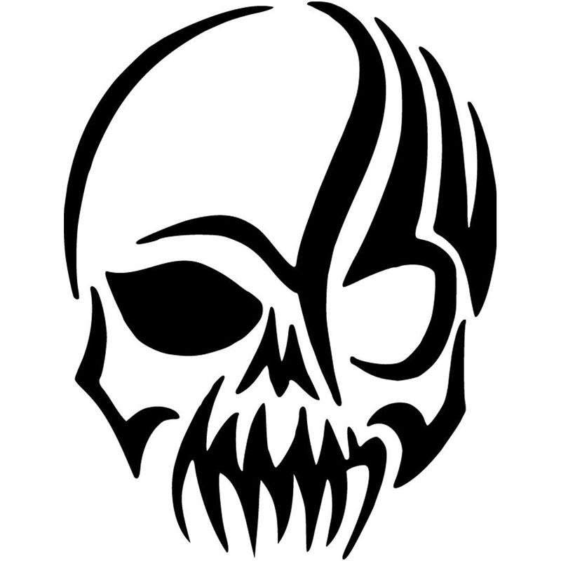 Scary Tribal Skull Vinyl Sticker Fashion Cool Graphics Funny - Motorcycle tribal custom stickers designmotorcycle sticker tribal promotionshop for promotional