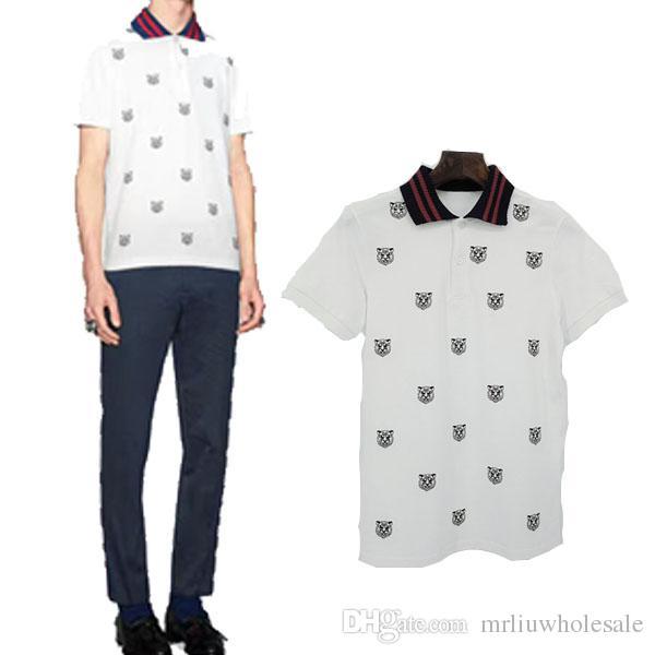 new style c25c1 63d5d 2017 Italia abbigliamento off T-shirt uomo tigre bianca stampa serpente  abbigliamento hip hop mens camicie firmate bianco nero 2XL