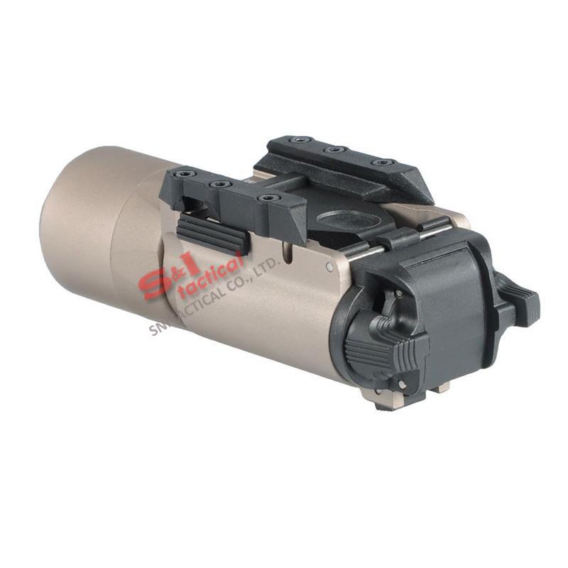 Luz táctica SF X300 Ultra LED pistola luz X300U adapta pistolas con Picatinny o rieles universales para Rifle Scope Dark Earth