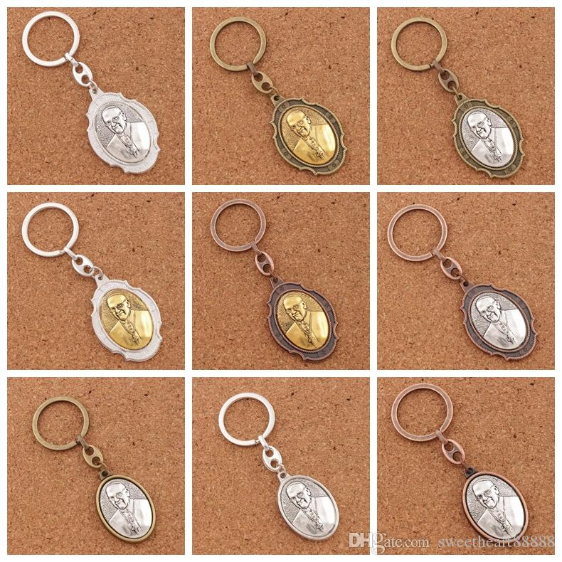 Pope Francis Saint Francis Prayer for Peace Blessed Prayer 2 inch Medal Keychain Travel Protection Key Ring K1742