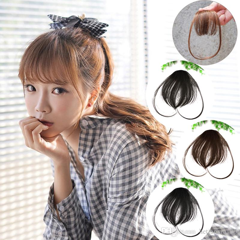 Hair Bang Wig Mini Air Bangs Fringe Piece Of Hair Korean Mini Bangs Thin Small Volumes Buckle