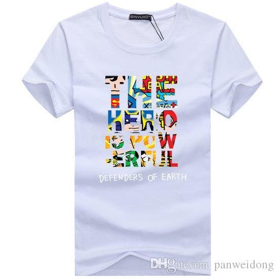 Homens quentes T shirt da marca de moda roupas de manga curta dos homens camiseta de algodão elástico ocasional t-shirt masculino o pescoço
