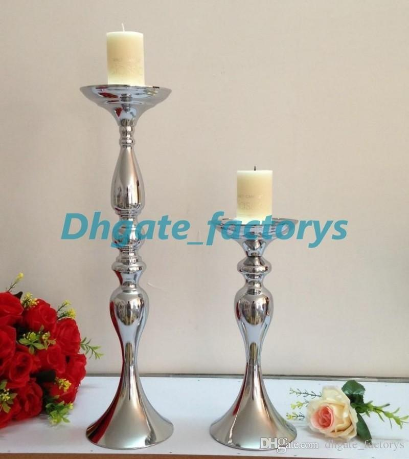 Wholesale elegant fashion new products Vintage Flower Vase Table 123 Centerpiece 50cm Tall mental Candle Holder for wedding decora.