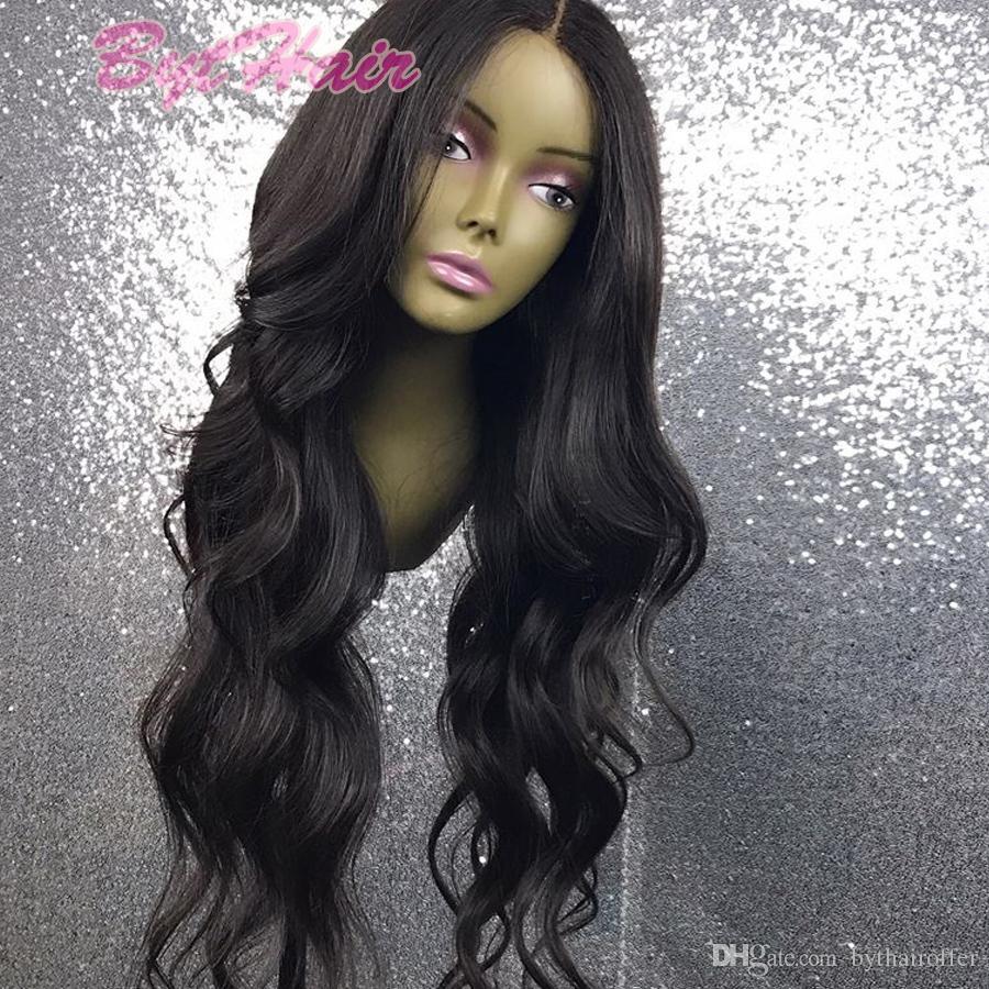 Parrucca anteriore ondulata del merletto Parrucca naturale con i capelli del bambino Parrucche piene vergini peruviane del pizzo dei capelli del bambino