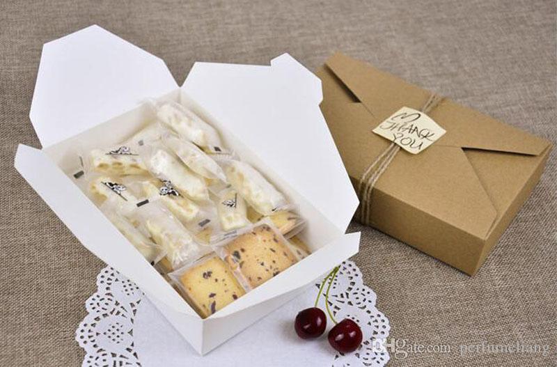 19.5 cm x 12.5 cmx4 cm Caixa de Presente de Papel Kraft Envelope Tipo Caixas De Papelão Pacote de Açúcar Para Festa de Casamento Festival ZA3861