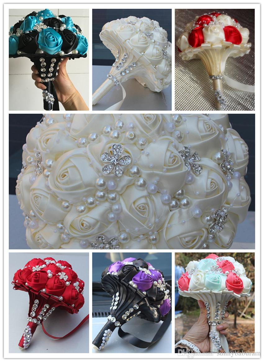 Wedding Flowers Bridal Bouquets Artificial Sweet 15 Quinceanera